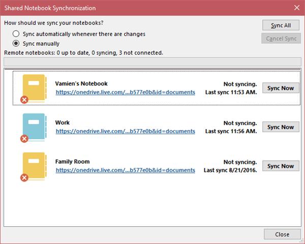 Cómo activar o desactivar la sincronización de archivos de OneNote a OneDrive