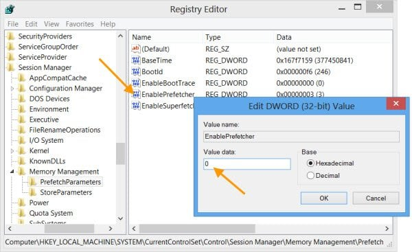 Desactivar Superfetch & Prefetch para SSD en Windows 10/8/7