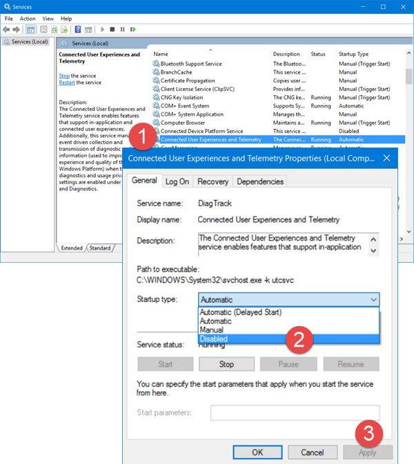 Administración de la configuración de telemetría y recopilación de datos de Windows 10 11