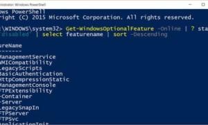Generar una lista de características deshabilitadas en Windows 10 con PowerShell