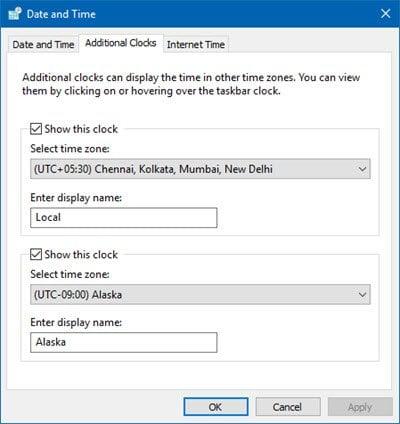 Cómo mostrar Relojes Múltiples en la Barra de Tareas de Windows 10 3