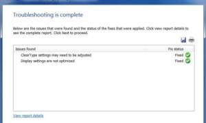 Problemas de visualización y configuración, problemas de resolución de pantalla en Windows 7