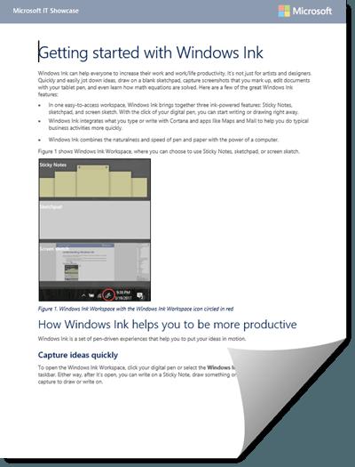Descargar la Guía de tinta de Windows para Windows 10 desde Microsoft