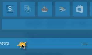 Grupo y grupos de azulejos y baldosas en el menú Inicio de Windows 10