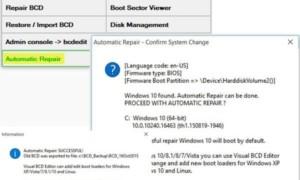 Usar la configuración de arranque original desactivada en Windows 10