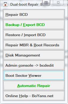 Herramienta de reparación de arranque dual: Reparación de los datos de configuración de inicio para Windows