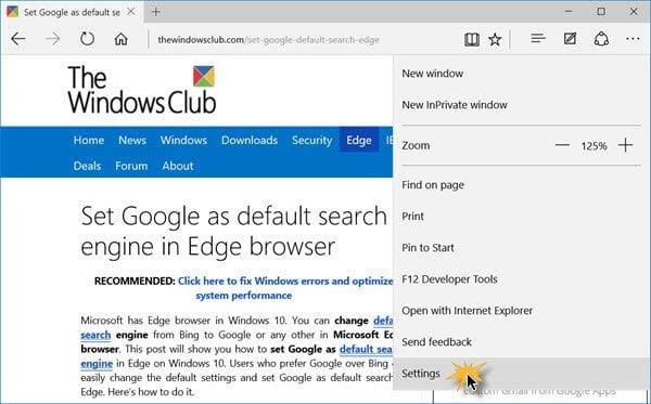 Consejos y trucos de Edge Browser para Windows 10
