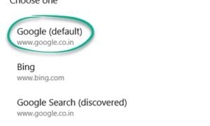 No podíamos establecer el motor de búsqueda de Google como su motor de búsqueda predeterminado en el navegador Edge.
