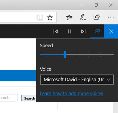 Haga que el explorador Edge lea en voz alta un libro electrónico, un PDF o una página web en Windows 10