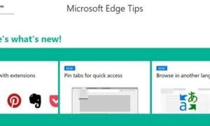 La página de consejos de Microsoft Edge Tips le ayudará a trabajar de forma más inteligente