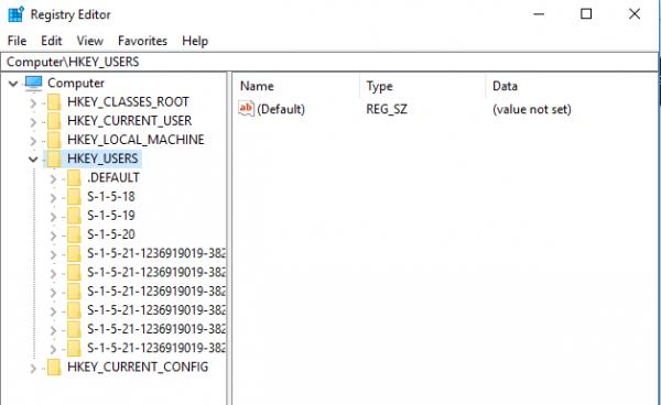 Cómo editar el Registro para otro Usuario en Windows 10 2