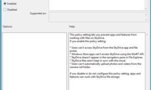 Desactivar la integración de OneDrive en Windows 10/8.1