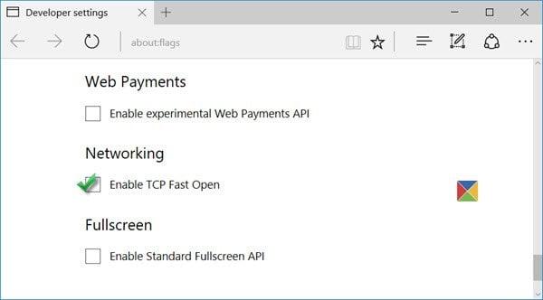 Habilitar TCP Fast Open en el navegador Edge para que las páginas se carguen más rápido 1