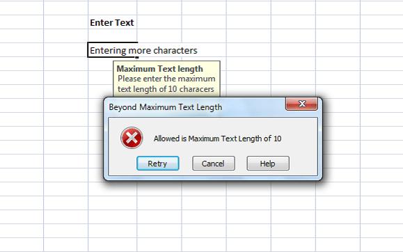 Cómo añadir mensajes de error en Microsoft Excel
