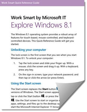 Explorar Windows 8.1 Work Smart Guide de Microsoft IT