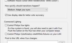 f.lux para Windows calienta la pantalla por la noche y ayuda a reducir el cansancio ocular