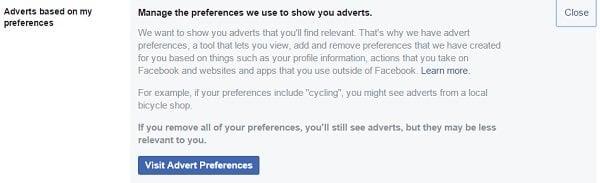 Cómo administrar las preferencias de anuncios de Facebook y no participar en el seguimiento de anuncios