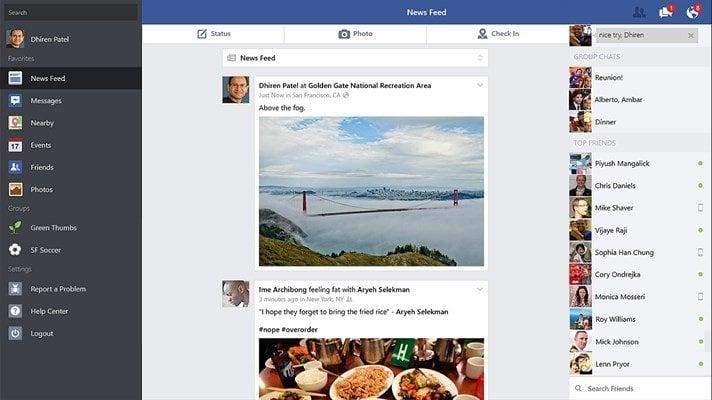 Aplicación de Facebook para Windows 10 Review: Suficientemente bueno
