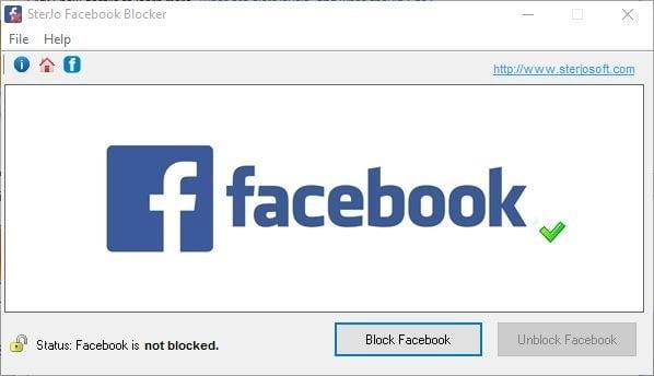 Bloquear Facebook con el software Facebook Blocker 1