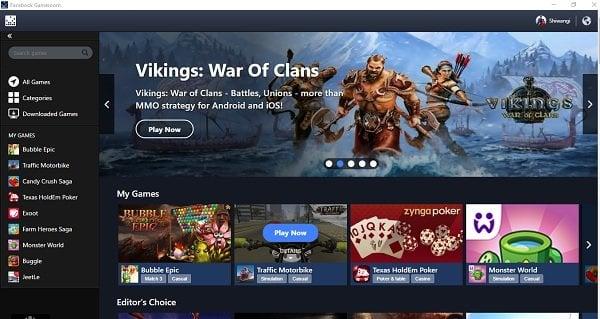 Juega a juegos de Facebook en Windows PC con Facebook Gameroom 1