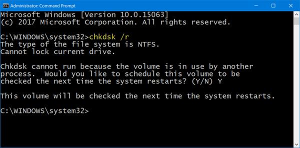 El segmento de registro de archivo es ilegible Error de disco en Windows 10