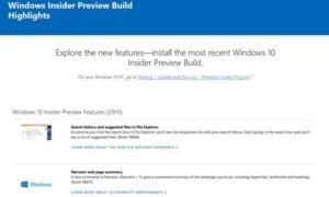 ¿Dónde buscar las últimas características de construcción de Windows 10 con vista previa interna?