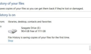 Habilitar el Historial de archivos en Windows 8 para realizar copias de seguridad de los datos en una fuente externa