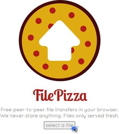 File Pizza te permite compartir archivos con tus amigos usando Chrome o Firefox.