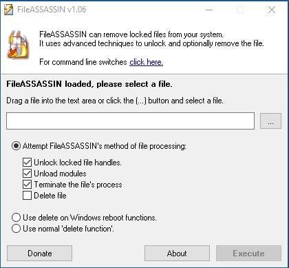 Software Free File Deleter para eliminar archivos y carpetas bloqueados en un PC con Windows 10/8/7 7