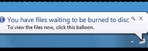 Tiene archivos en espera de ser grabados en un disco en Windows 10/8/7