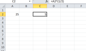 3 maneras diferentes de encontrar la raíz cuadrada de un número en Excel