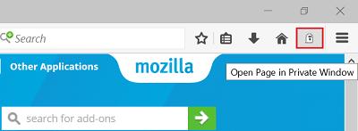 Cómo mostrar la página actual en la ventana privada del navegador Firefox 1