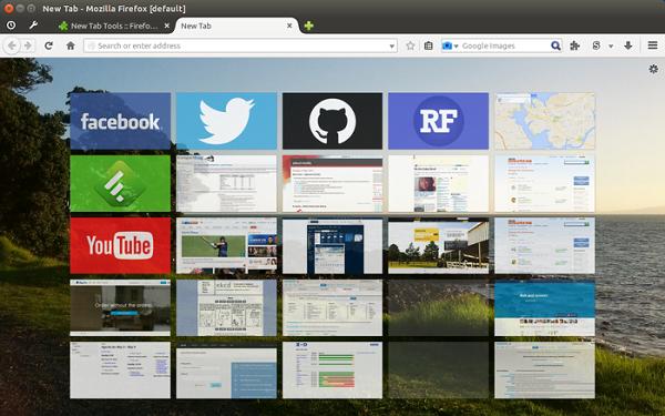 Configuración de las preferencias de la nueva pestaña Firefox en un PC con Windows 10