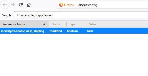 Corrección de un error de SEC ERROR OCSP INVALID SIGNING CERT Error de Firefox