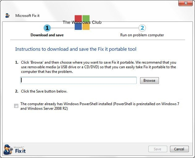 Descargar Portable Fix It Troubleshooters Suite desde Microsoft 1