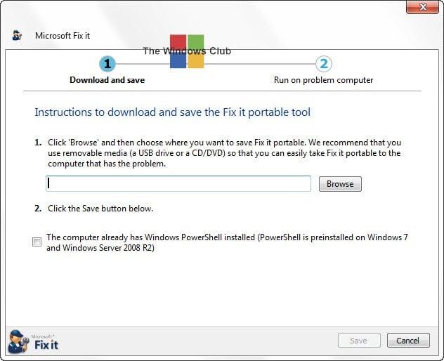 Descargar Portable Fix It Troubleshooters Suite desde Microsoft 1