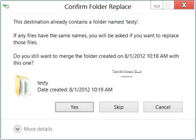 ¿Qué es el conflicto de fusión de carpetas en Windows 8?