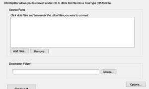 Convertir una fuente Mac a una fuente compatible con Windows usando DfontSplitter
