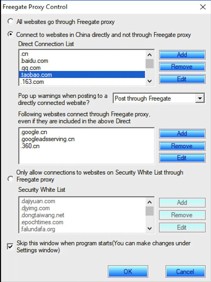 Utilice el software anti-censura Freegate para evitar la censura en Internet y navegar libremente. 2