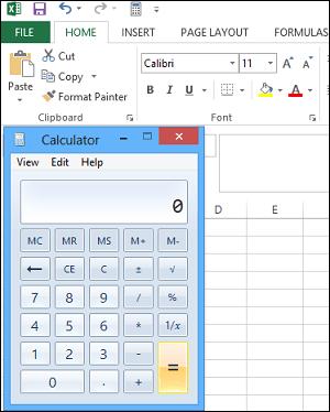 Agregar Calculadora de Windows a la barra de herramientas de acceso rápido de Excel