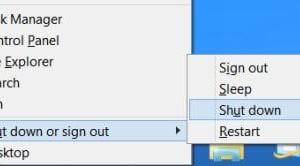 Diferencia en el comportamiento de apagado de Windows 8.1: Menú WinX vs. Barra de encantos Opción de apagado
