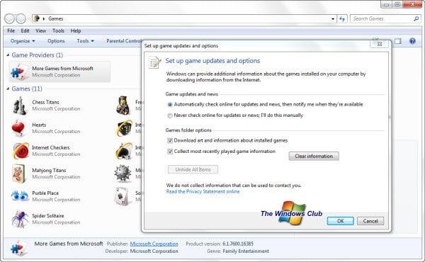 Explorador de juegos lento para abrir, se congela, cuelga en Windows 7