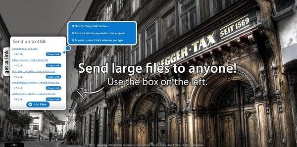 Getalink: Servicio gratuito de intercambio de archivos en línea 2