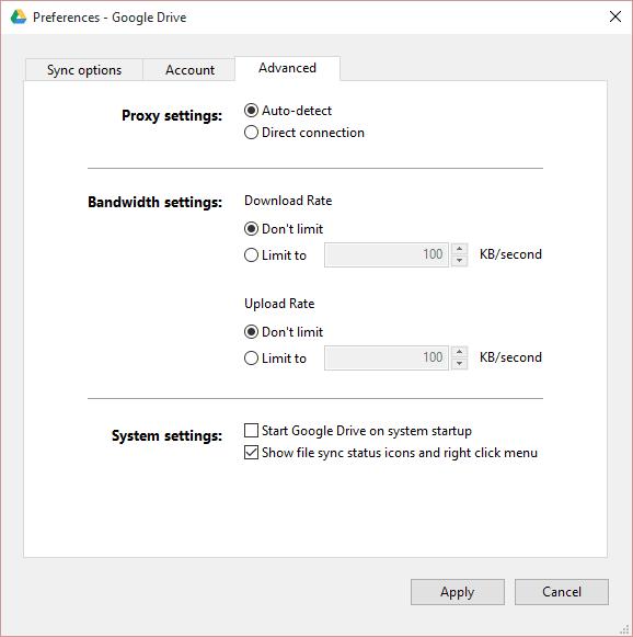 Google Drive se bloquea continuamente en el PC con Windows