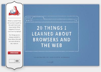 Google eBook: 20 cosas que aprendí sobre los navegadores y la Web