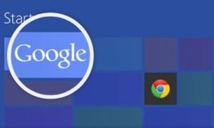 """Google recuerda a los usuarios de Windows 8 que """"recuperen su Google""""."""