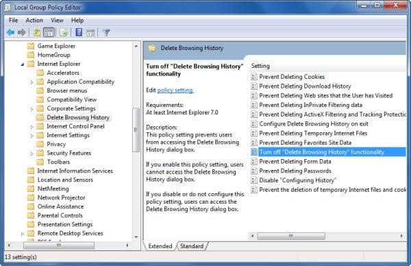 Personalizar y configurar Internet Explorer mediante el Editor de directivas de grupo