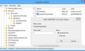 Desactivar las notificaciones de la etiqueta de ayuda de Windows 8.1