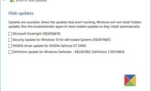 La herramienta Mostrar u ocultar actualizaciones bloqueará las actualizaciones de Windows no deseadas en Windows 10.