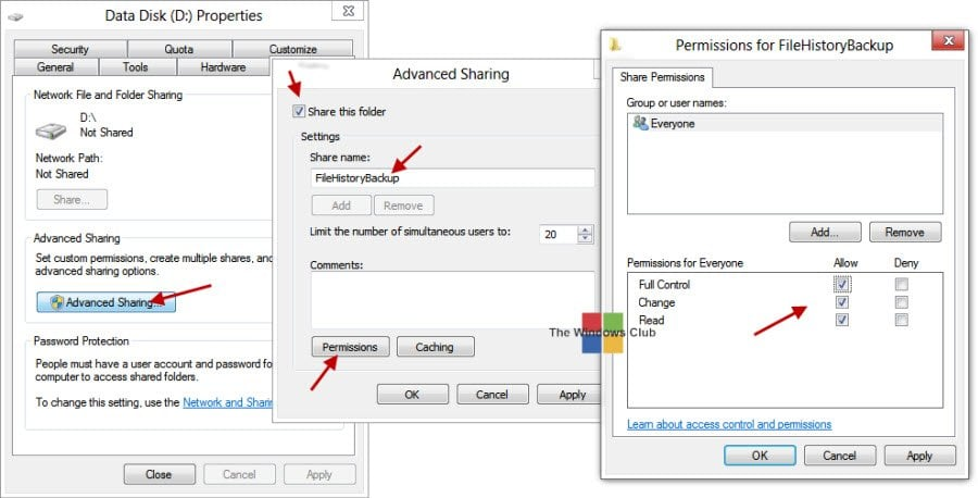 Copia de seguridad y restauración de archivos mediante el Historial de archivos en Windows 8